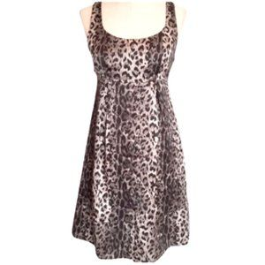 The Limited 100% Silk Animal Leopard Print Dress